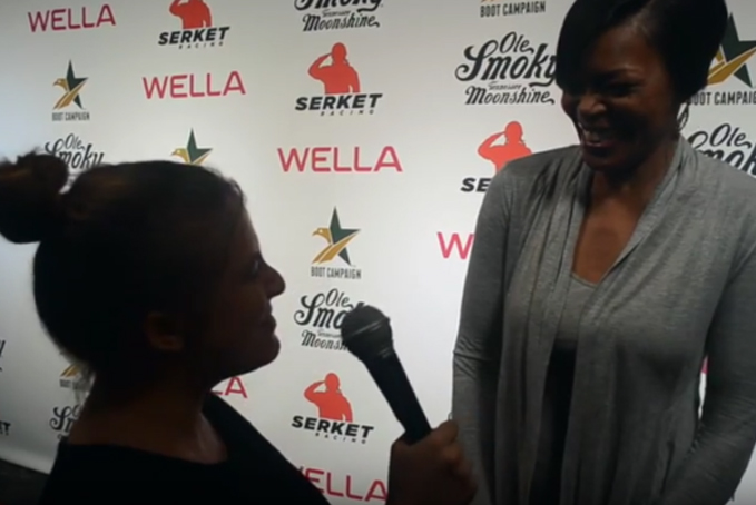"""""""Straight Outta Compton"""", Actress Lisa Renee Pitts Interview at Boot Campaign's Comedy Boot Jam"""